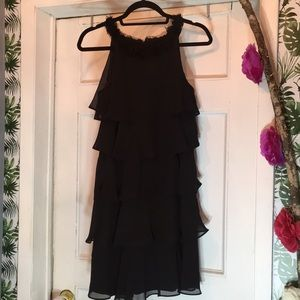 LBD Sleeveless Dress with layered Frills Sz 10P